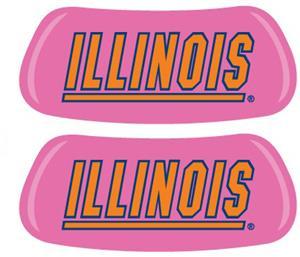 University of Illinois Pink EYEBLACK Strips
