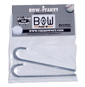 "Bow Net 6"" Metal Stakes (2 Per Hangcard)"