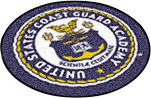 "Fan Mats US Coast Guard Academy Seal 27"" Round Mat"