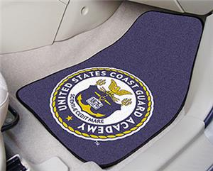 US Coast Guard Academy Seal Carpet Car Mats