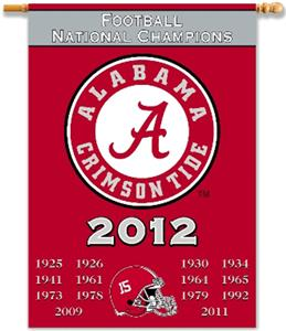 COLLEGIATE Alabama Champ Years 2-Sided Banner