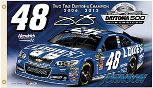 NASCAR Jimmie Johnson #48 Champ 2-Sided 3'x5' Flag