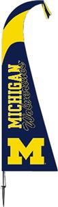 COLLEGIATE Michigan Wolverines Feather Flag
