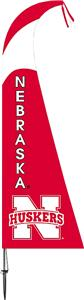 COLLEGIATE Nebraska Cornhuskers Feather Flag