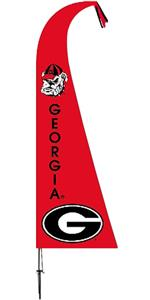 COLLEGIATE Georgia Bulldogs Feather Flag