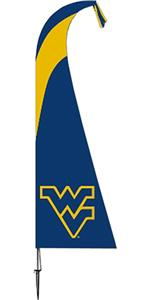 COLLEGIATE West Virginia Mountaineers Feather Flag