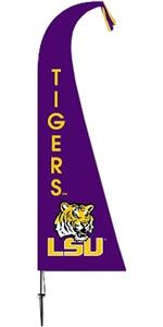 COLLEGIATE Louisiana State Tigers Feather Flag