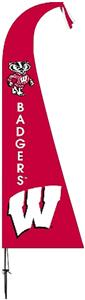 COLLEGIATE Wisconsin Badgers Feather Flag
