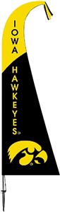COLLEGIATE Iowa Hawkeyes Feather Flag