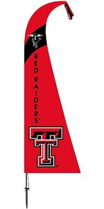 COLLEGIATE Texas Tech Red Raiders Feather Flag