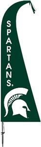 COLLEGIATE Michigan State Spartans Feather Flag