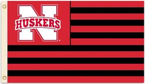 BSI COLLEGIATE Nebraska Stripes 3' x 5' Flag