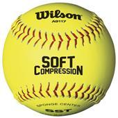 Wilson Soft Compression Fastpitch Softballs (1 DZ)
