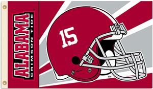 COLLEGIATE Alabama Crimson Helmet 3' x 5' Flag