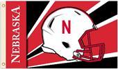 COLLEGIATE Nebraska Huskers Helmet 3' x 5' Flag