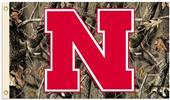 COLLEGIATE Nebraska Realtree Camo 3' x 5' Flag