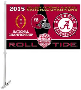 "COLLEGIATE Alabama Champ 2-Sided 11""x18"" Car Flag"
