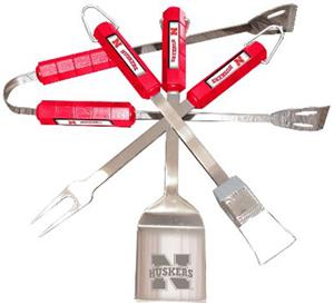COLLEGIATE Nebraska 4 Piece BBQ Set