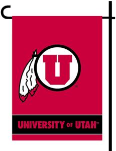 "COLLEGIATE Utah Utes 2-Sided 13"" x 18"" Garden Flag"