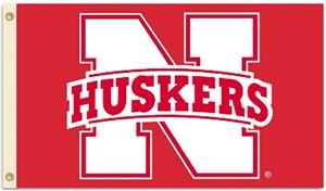 COLLEGIATE Nebraska Huskers 2-Sided 3' x 5' Flag