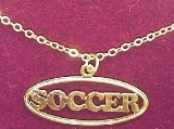 Rixstine Gold Plated Soccer Necklace