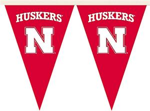 COLLEGIATE Nebraska Huskers Party Pennant Flags