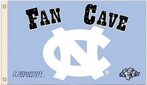 Collegiate North Carolina Man Cave 3' x 5' Flag