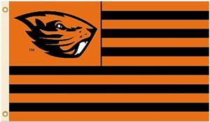 COLLEGIATE Oregon State Stripes 3' x 5' Flags