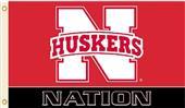 COLLEGIATE Nebraska Huskers Nation 3' x 5' Flag