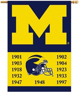 "COLLEGIATE Michigan Champ 2-Sided 28"" x 40"" Banner"