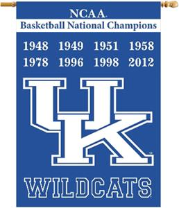 "COLLEGIATE Kentucky Champ 2-Sided 28"" x 40"" Banner"