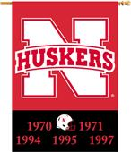 "COLLEGIATE Nebraska Champ 2-Sided 28"" x 40"" Banner"