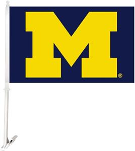 "COLLEGIATE Michigan 2-Sided 11"" x 18"" Car Flag"