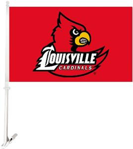 "COLLEGIATE Louisville 2-Sided 11"" x 18"" Car Flag"