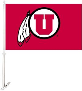 "COLLEGIATE Utah 2-Sided 11"" x 18"" Car Flag"
