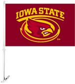 "COLLEGIATE Iowa State 2-Sided 11"" x 18"" Car Flag"