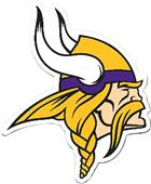 "NFL Minnesota Vikings Logo 12"" Die Cut Car Magnet"