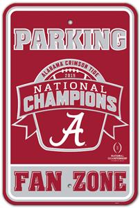 COLLEGIATE Alabama Champ Plastic Parking Sign