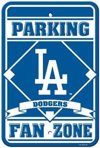 MLB Los Angeles Dodgers Plastic Parking Sign