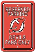 BSI NHL New Jersey Devils Plastic Parking Sign