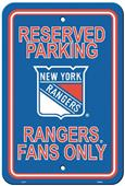 BSI NHL New York Rangers Plastic Parking Sign
