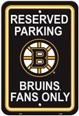 BSI NHL Boston Bruins Plastic Parking Sign