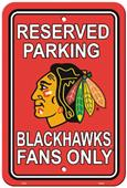 BSI NHL Chicago Blackhawks Plastic Parking Sign