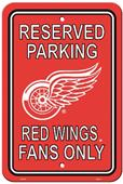 BSI NHL Detroit Red Wings Plastic Parking Sign
