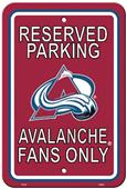 BSI NHL Colorado Avalanche Plastic Parking Sign