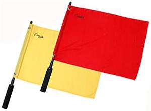 Official Solid Soccer Linesman Ref Flags-Set of 2
