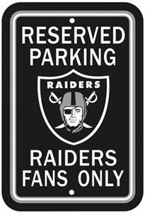 BSI NFL Oakland Raiders Reserved Parking Sign