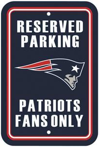 BSI NFL New England Patriots Reserved Parking Sign