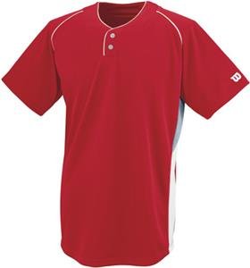 Wilson S200 2-Button Mesh Baseball Jerseys