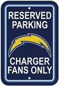 BSI NFL San Diego Chargers Reserved Parking Sign